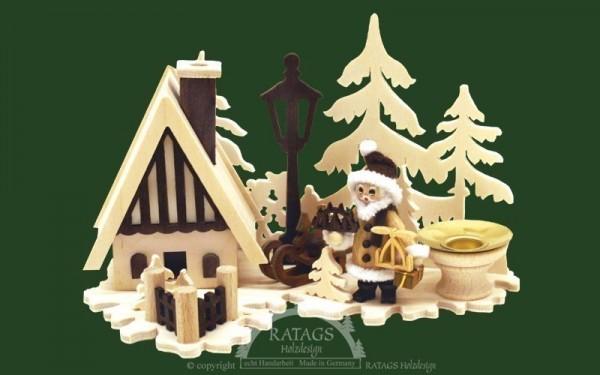 Tischschmuck, Wiese, Räucherhaus, Weihnachtsmann