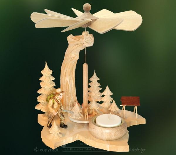 Blattpyramide Wanderer, Deko, Weihnachten, echt Erzgebirge