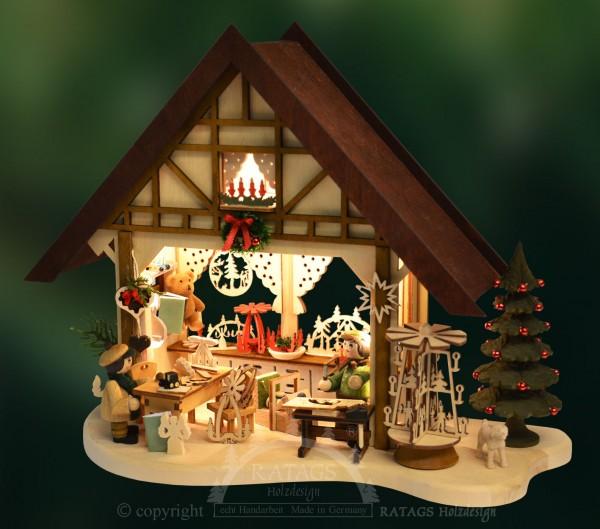 Schwibbogen Fachwerkhaus, Weihnachten, echt Erzgebirge