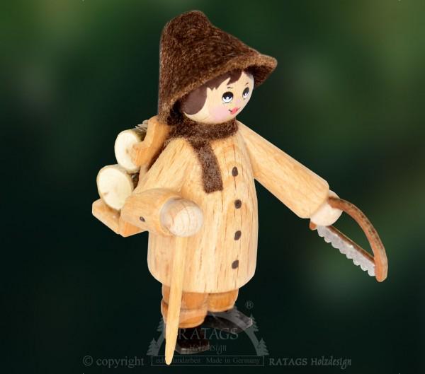 Figur, Waldarbeiter, Holzkiepe, Stock, Säge