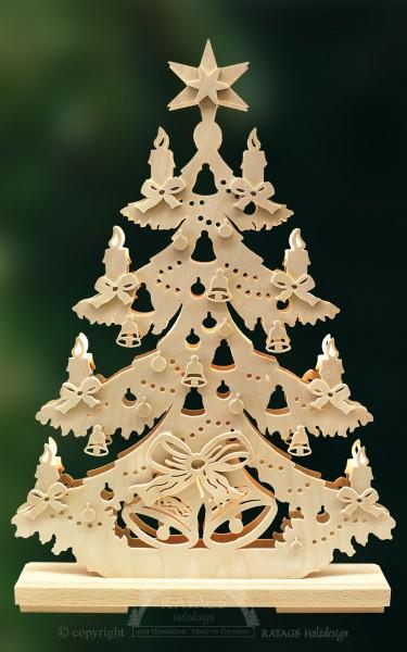 Schleifentanne, Deko, Weihnachten, echt Erzgebirge