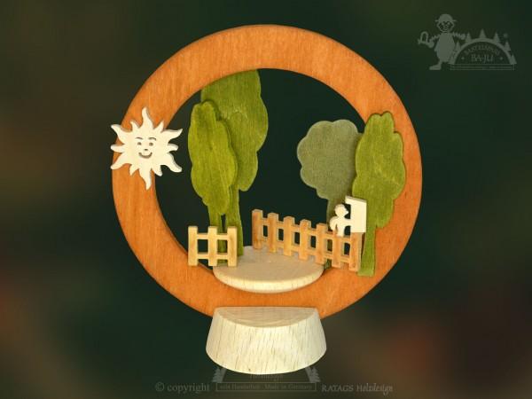 Tischschmuck im Garten, Deko, Weihnachten, echt Erzgebirge