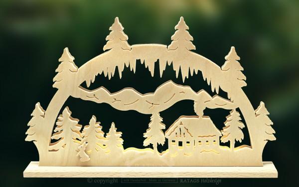Niederspannungsbogen, Haus im Wald