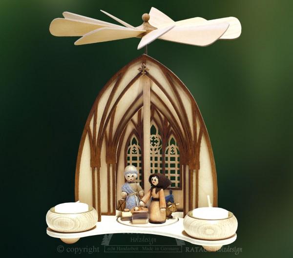 Dompyramide Christuskind, Weihnachten, echt Erzgebirge