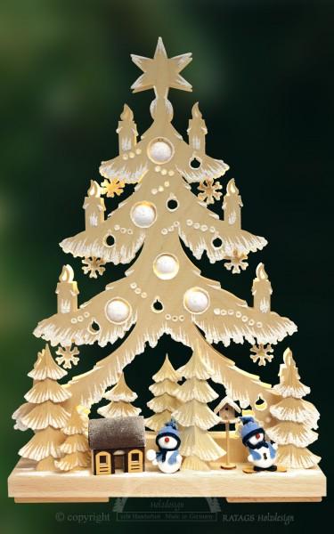 Tanne Raureif, Deko, Weihnachten, echt Erzgebirge