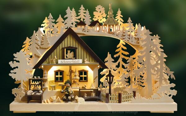 Schwibbogen Schnitzerei, Weihnachten, echt Erzgebirge