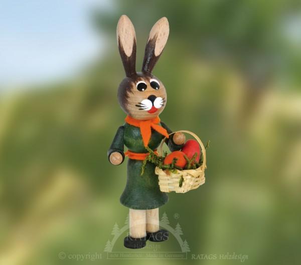 Hasenm=E4dchen mit Halstuch, Ostern, echt Erzgebirge