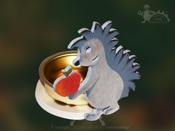 Tischschmuck, Igel, Teelichthalter, Herbst