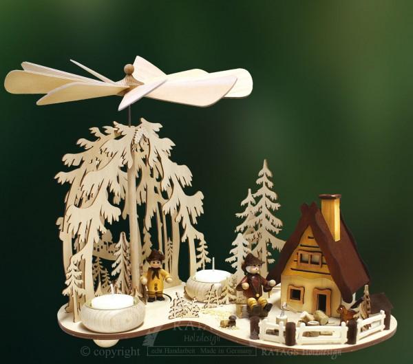Waldpyramide Lichtung, Deko, Weihnachten, echt Erzgebirge