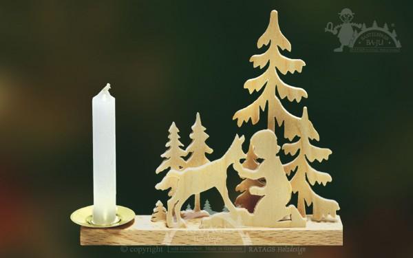 Tischschmuck Ziege Kind, Deko, Weihnachten, echt Erzgebirge