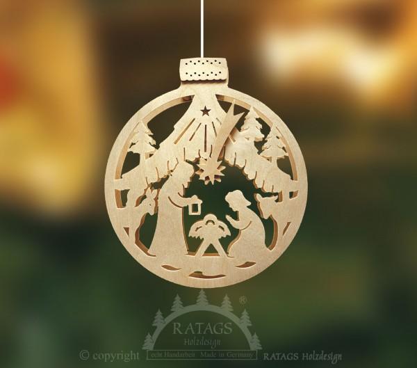 beleuchtetes Fensterbild, Weihnachten, echt Erzgebirge