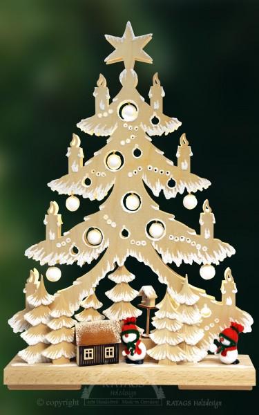 Tanne Winter, Deko, Weihnachten, echt Erzgebirge