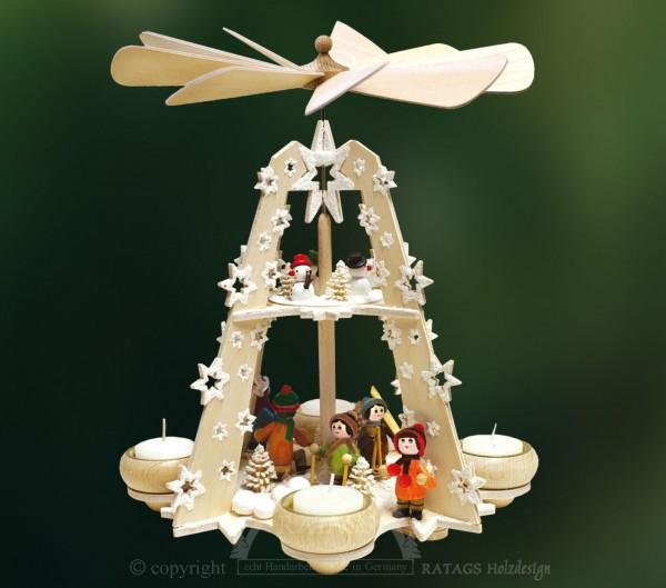 Sternenhimmelpyramide Kinder, Weihnachten, echt Erzgebirge