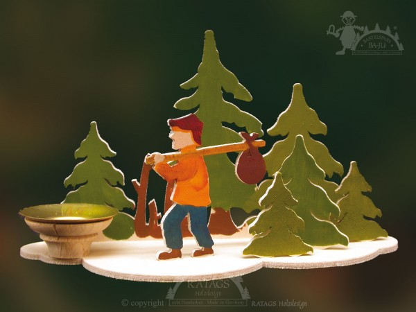Tischschmuck Wanderer, Deko, Weihnachten, echt Erzgebirge