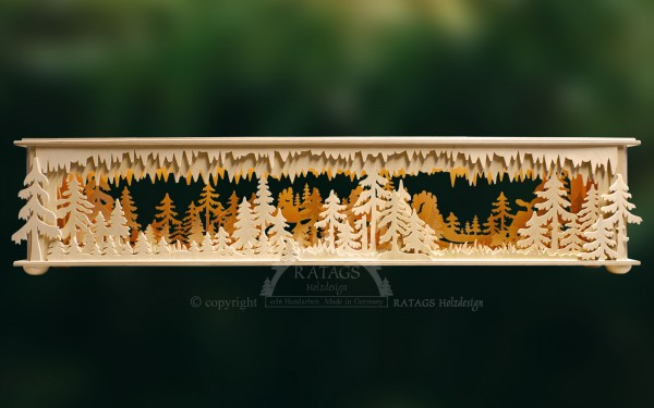 Raumleuchte Wald mit Gebirge, Weihnachten, echt Erzgebirge