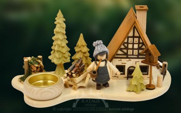 Raeucherhaus Walki, Deko, Weihnachten, echt Erzgebirge