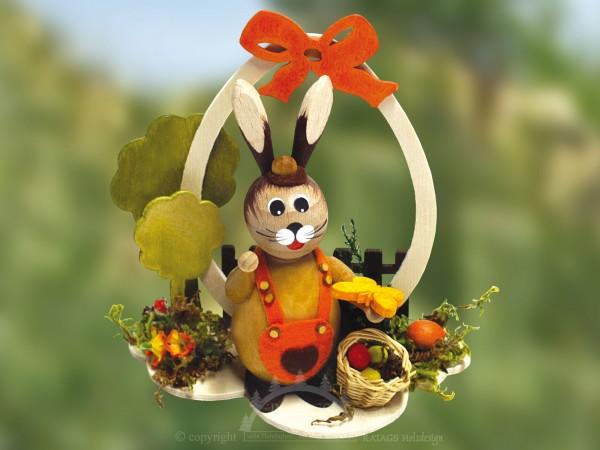 H=E4schen mit Eiern im Korb, Ostern, echt Erzgebirge