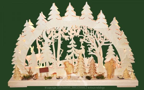 Schwibbogen Revierbegehung, Weihnachten, echt Erzgebirge