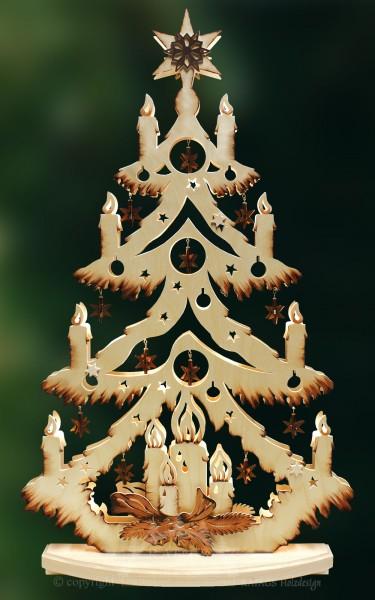 beleuchtete Sternchentanne, Weihnachten, echt Erzgebirge