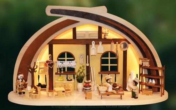 Massivholzbogen Cafeteria, Weihnachten, echt Erzgebirge