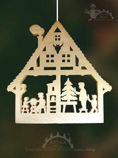 Fensterbild, Basteln, Erzgebirge, Weihnacht, Deko