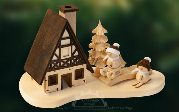 Raeucherhaus, Tischschmuck, Weihnachten, echt Erzgebirge