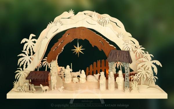 Schwibbogen Heilige Nacht, Weihnachten, echt Erzgebirge