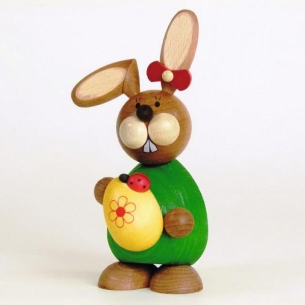 Osterhase mit großem Ei und Käfer, Paul Ullrich, Erzgebirge