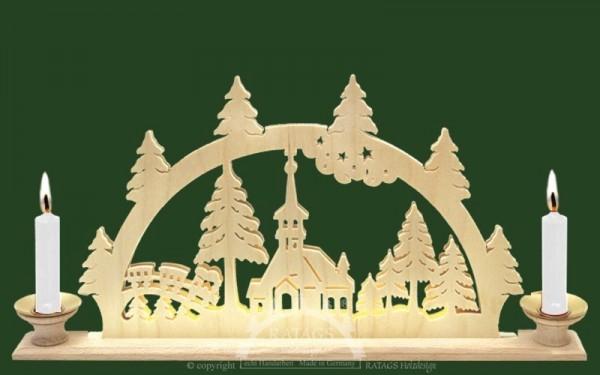 Schwibbogen Kirchlein, Deko, Weihnachten, echt Erzgebirge