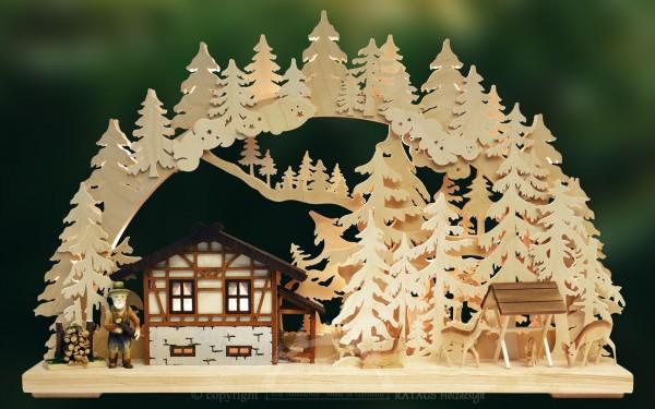 Schwibbogen Waldhaus, Deko, Weihnachten, echt Erzgebirge