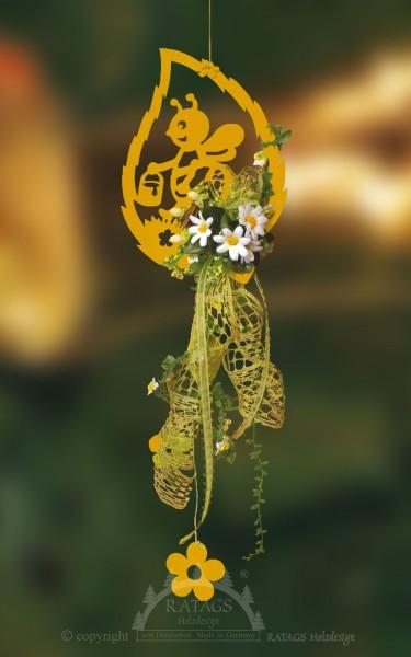 floristischer Behang Fr=FChling, Sommer, echt Erzgebirge