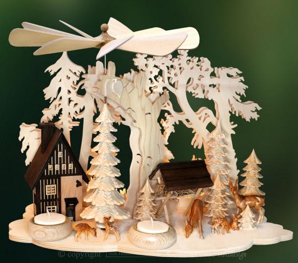LED Wand- & Tischpyramide, Weihnachten, echt Erzgebirge