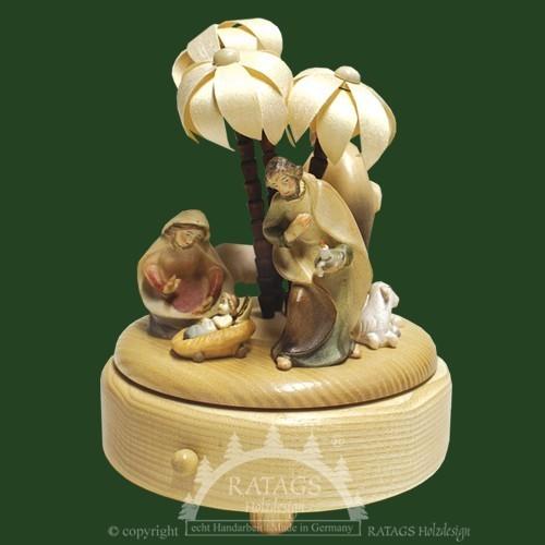 Spieldose Christi Geburt, Weihnachten, echt Erzgebirge