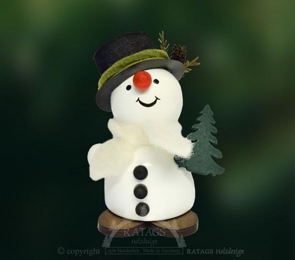 Moppel-Schneemann mit Tanne, Winter, Frost, Winterwald