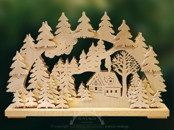 Schwibbogen Schneehuette, Weihnachten, echt Erzgebirge