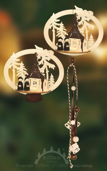 Fensterdeko, Seiffen, Kirche, echt Erzgebirge, Kurrende