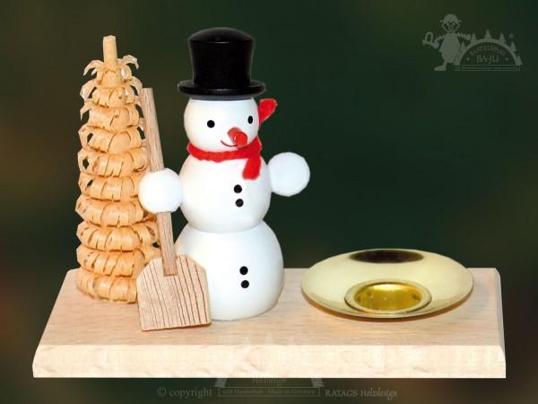 Tischschmuck Schneemann Deko Weihnachten, echt Erzgebirge