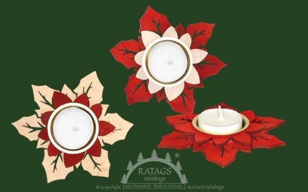 Teelichthalter Weihnachtsstern 3-er Set