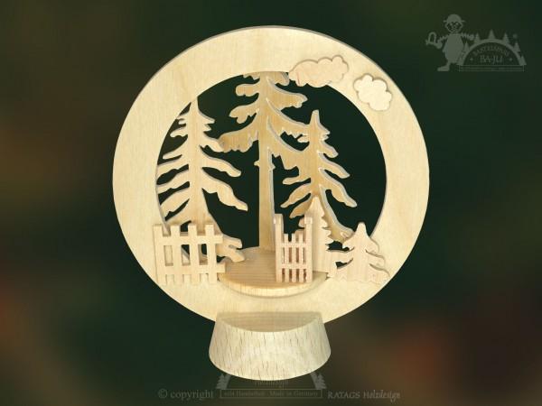 Tischschmuck im Wald, Deko, Weihnachten, echt Erzgebirge