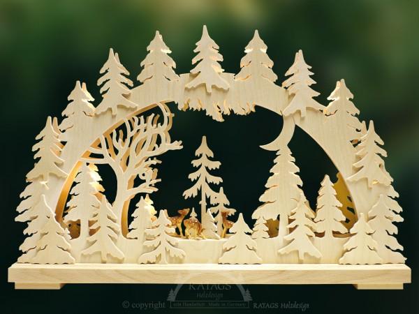 Schwibbogen Rehe, Deko, Weihnachten, echt Erzgebirge
