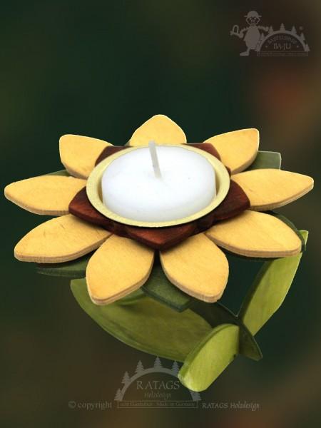 Teelichthalter zum Basteln, 1 Blüte