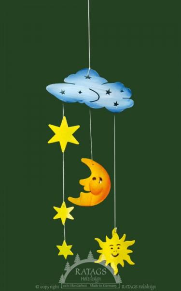 Sonne, Mond, Sterne, Mobile, Deko, Kinder