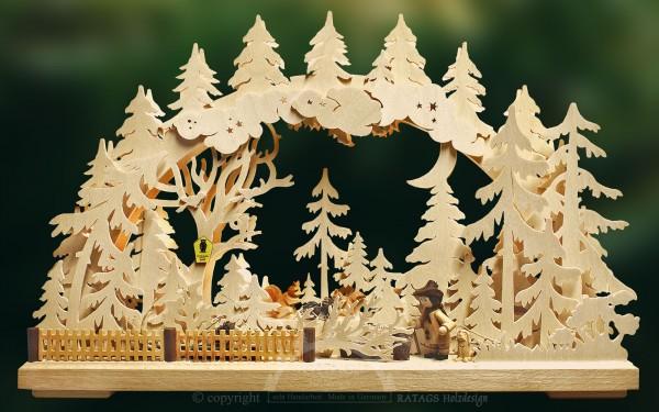 Schwibbogen Wandern, Deko, Weihnachten, echt Erzgebirge