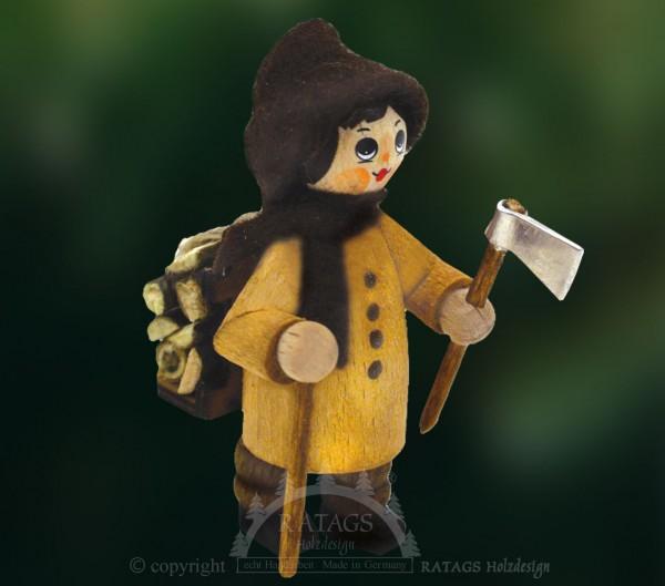 Figur, Holzfäller, Holzkiepe, Axt, natur