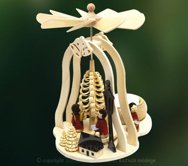 Minipyramide mit Teelicht, Weihnachten, echt Erzgebirge
