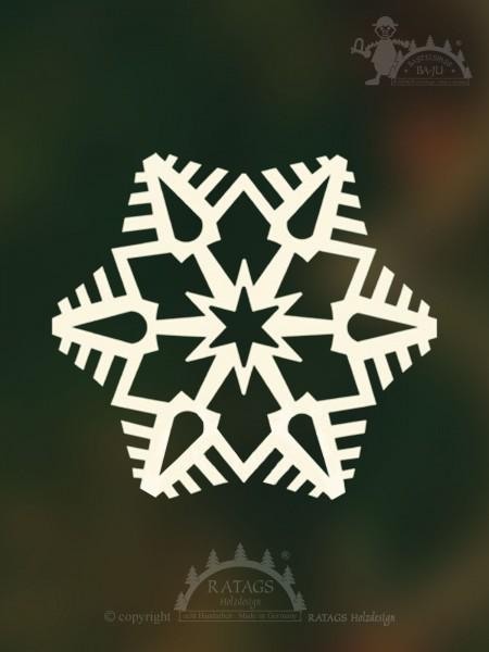 unbeleuchtetes Fensterbild Stern, Deko, echt Erzgebirge