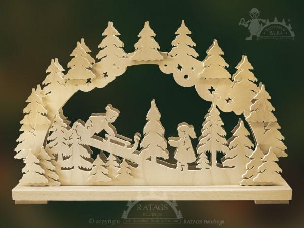 Schwibbogen Rodler, Deko, Weihnachten, echt Erzgebirge