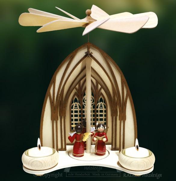 Dompyramide, 3 Engel, rot
