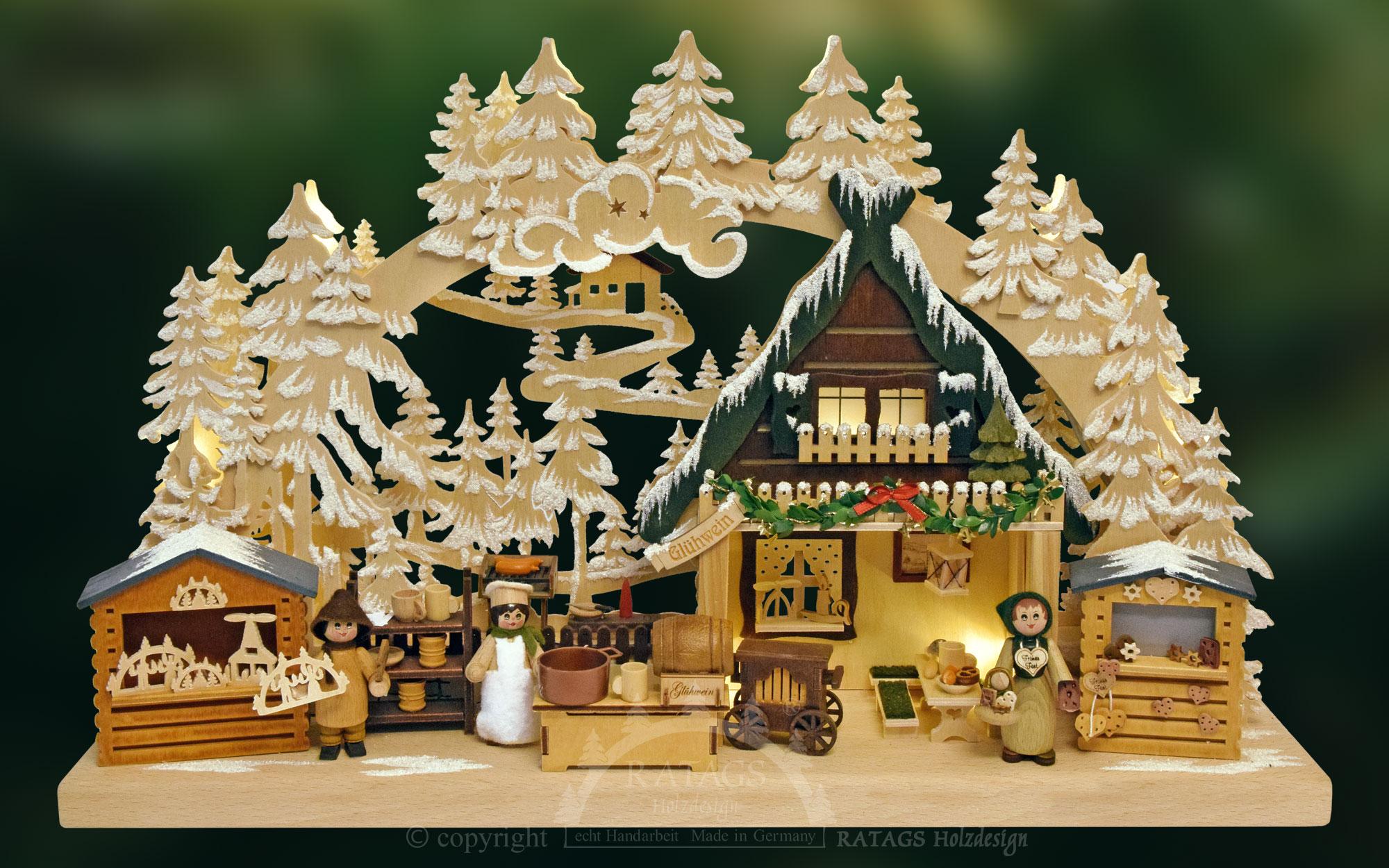 3d schwibbogen kl nikolausmarkt mit raureif weihnachtsmotive schwibbogen. Black Bedroom Furniture Sets. Home Design Ideas