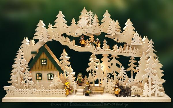 Schwibbogen Waldgänger, Weihnachten, echt Erzgebirge